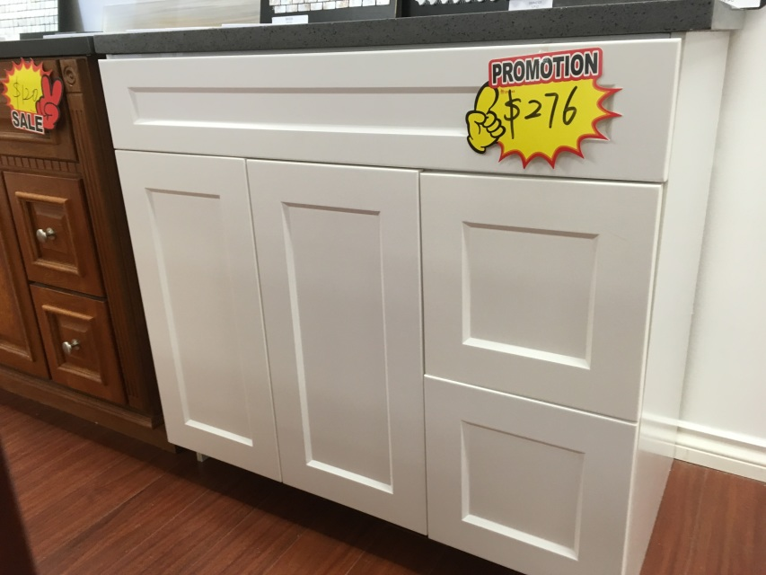 """36"""" White Shaker Bathroom Combo -- Great Deal (Limited Sale!)"""