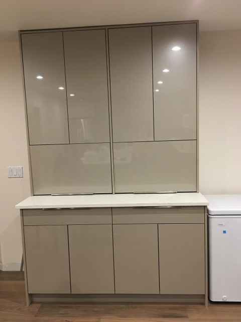 captivating beige gloss kitchen | NEW---Acrylic High Gloss Beige European Frameless Style ...